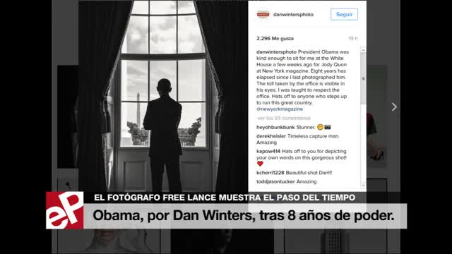La huella del poder en el rostro de Obama