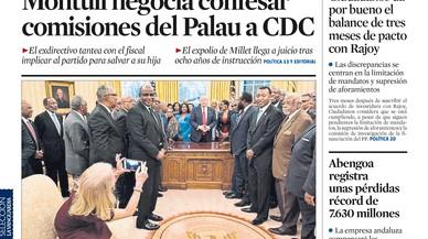 """""""Puigdemont pretén proclamar la república sense control del Parlament"""", titula 'El País'"""