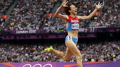 La rusa Maria Savinova, campeona ol�mpica de 800 metros en Londres 2012, de quien la AMA recomienda la suspensi�n de por vida.
