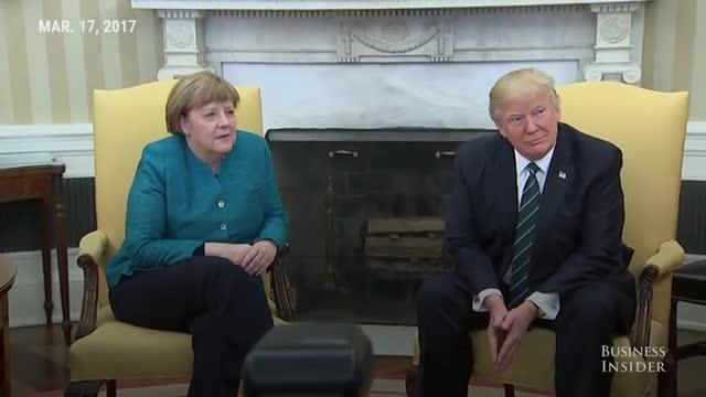 Trump rebutja donar la mà a Merkel en la seva reunió al Despatx Oval
