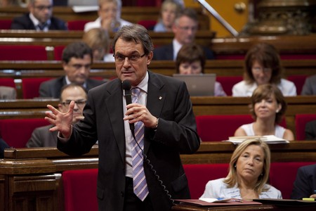 Artur Mas interviene en el pleno del Parlament