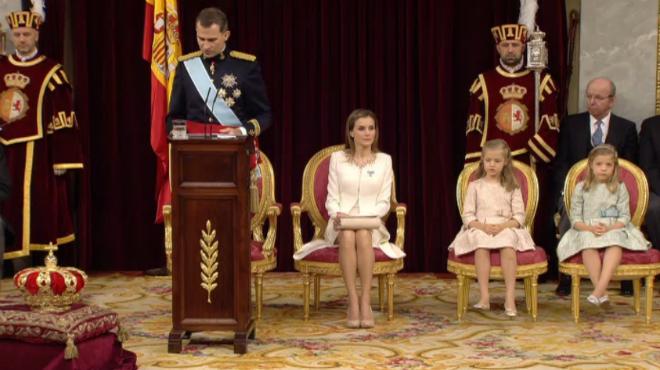 El primer discurs de Felip VI com a Rei dEspanya, al Congrés dels Diputats.