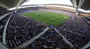 Inauguración del estadio de Cornellà-El Prat en agosto del 2009.