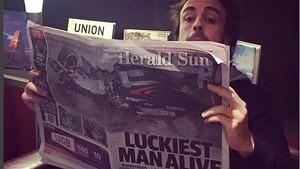Fernando Alonso bromea sobre lo ocurrido en las redes sociales