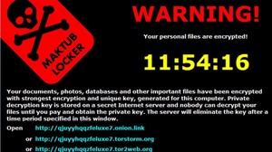 Mensaje que envía uno de los virus ransomware que secuestran ordenadores.