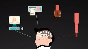 Módem cerebral para conectar el cerebro a máquinas inteligentes u ordenadores.