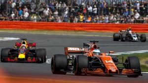 Alonso, por delante de Ricciardo en Silverstone