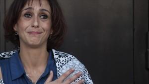 Juana Rivas, tras conocer que el juez decreta su libertad provisional.