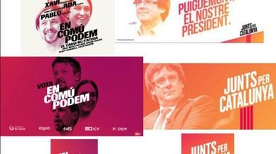 La imatge de Junts per Catalunya, calcada a la dels comuns