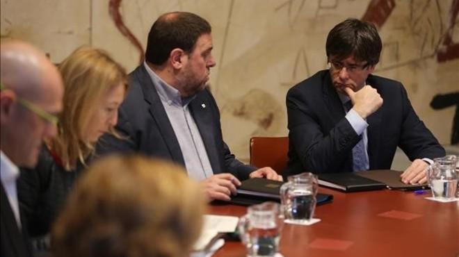 Reuni�n del Consell Executiu, este martes en el palau de la Generalitat.