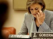 Cospedal interviene en la comisión de Defensa del Congreso, el 16 de enero, días después deconocerse el informe del Consejo de Estado sobre el Yak-42.