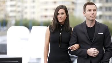 Ewan McGregor y Jennifer Connelly, en San Sebasti�n, donde presentan en la secci�n oficial a concurso 'Pastoral americana'.