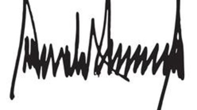 Firma de Donald Trump.
