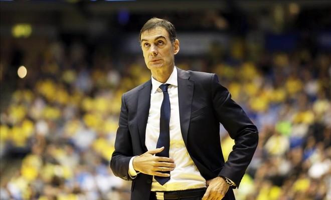 Georgios Bartzokas, en un reciente partido de Euroliga