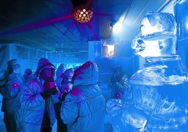 Copas de puro hielo