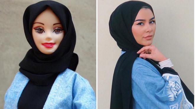 La Hijarbie luce diferentes modelos en su perfil de Instagram.
