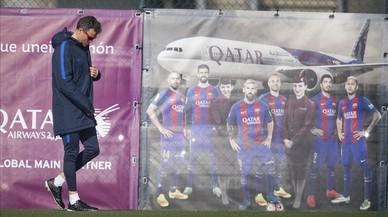Roda de premsa de Luis Enrique abans de l'anada de Copa amb l'Atlètic, en directe