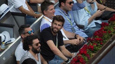 Piqué és escridassat com a espectador en el torneig de tennis de Madrid
