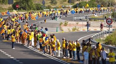 La manifestació independentista arriba als 342.000 inscrits, un 25% menys que l'any anterior