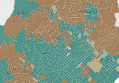 Las ciudades metropolitanas decantaron la balanza del 'no'