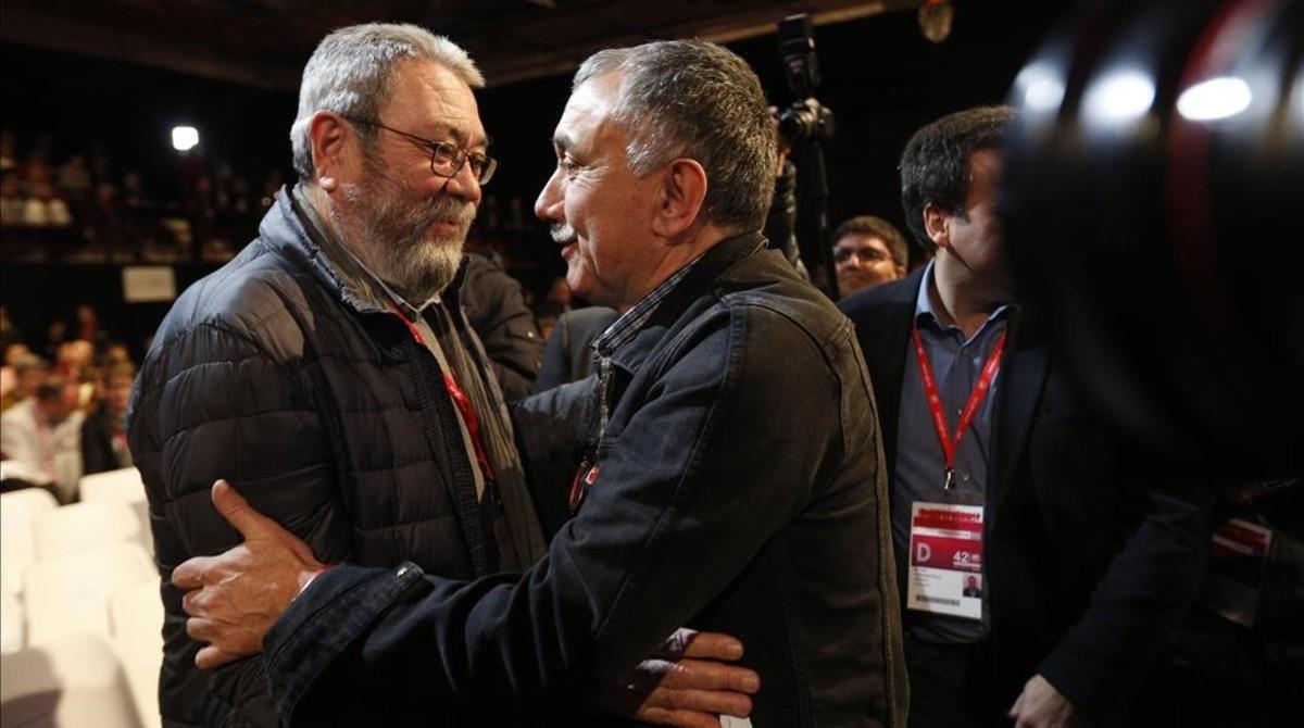 �lvarez, elegit secretari general de la UGT per l'estret marge de 17 vots