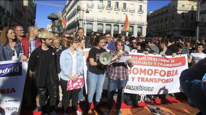 Manifestaci�n en Madrid contra el repunte de agresiones hom�fobas.