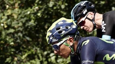 Quintana, junto a Froome durante la etapa con final en los Lagos de Covadonga.