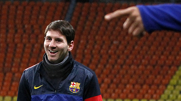 """El t�cnico azulgrana reitera que """"Messi no juega pensando en r�cords""""."""