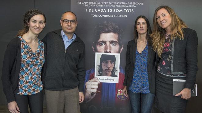 La Míriam, en Jaume, la Maria i laMarta, aquestdijous al'Auditori 1899 del FC Barcelona.