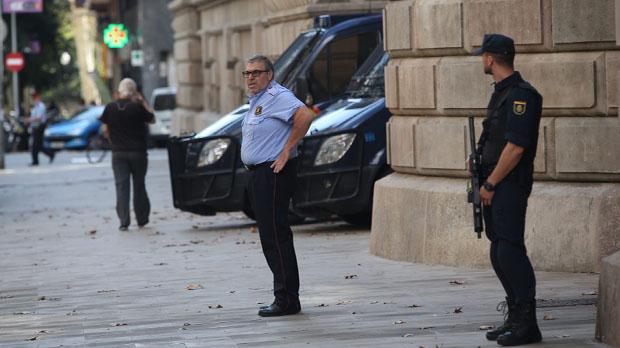 El TSJC retira a los Mossos el mando de la vigilancia del Palacio de Justicia