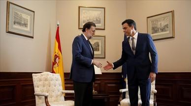 Rajoy i Sánchez es veuran dijous a la Moncloa