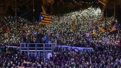 Las imágenes de la marcha independentista.