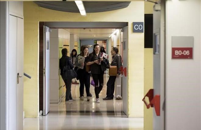 Estudiantes en la facultad de Psicología, Ciencias de la Educación y del Deporte Blanquerna-Universitat Ramon Llull.