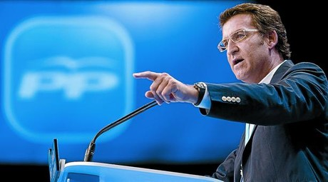 Frente comn 8 El presidente de la Xunta de Galicia, Alberto Nez Feijo, en una convencin del PP.