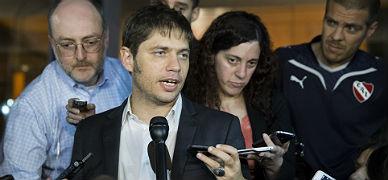 El ministro de Econom�a argentino, Axel Kicillof, esta madrugada en Nueva York.