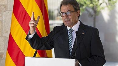 Artur Mas, durante la declaraci�n de este viernes.