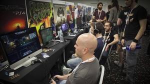 Jugadores en el congreso de videojuegos Gamelab, en el 2015.