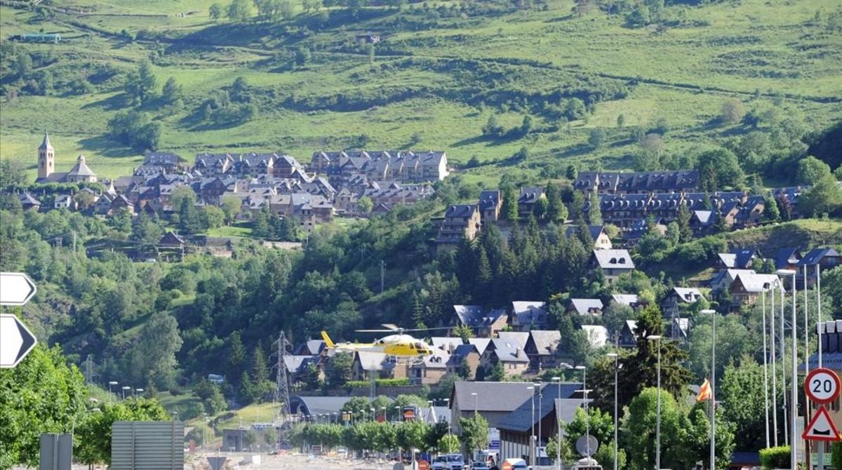 Una imagen de Vielha, en el Vall dAran.