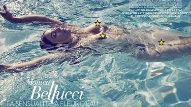 Instagram censura una foto de Monica Bellucci despullada