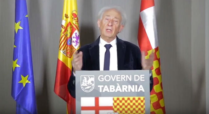 Discurso del presidente en el exilio de Tabarnia.