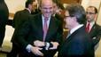 Freda trobada entre Mas i Guindos a Sitges