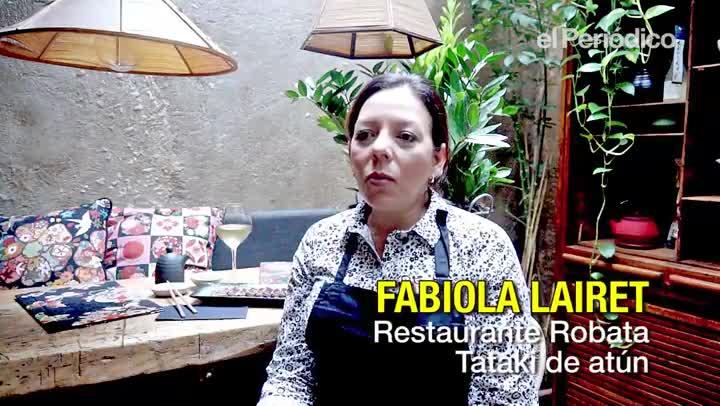 Fabiola Lairet explica el mejor modo de cortar el atún para un 'tataki'.