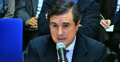 El expresidente balear Jaume Matas, durante su declaraci�n de este jueves.