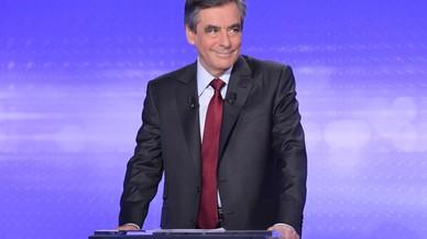 Franços Fillon, durante el debate de candidatos a las primarias de la derecha francesa, en France 2.