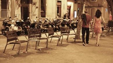 Forta ressaca a la Barceloneta