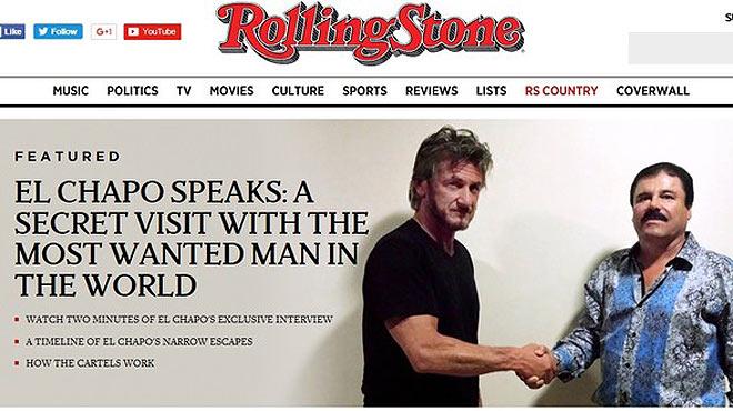 Sean Penn va entrevistar 'el Chapo' Guzmán per a la revista 'Rolling Stone'