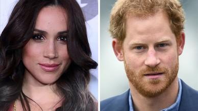 El príncipe Enrique de Inglaterra y su novia, la actriz Meghan Markle.