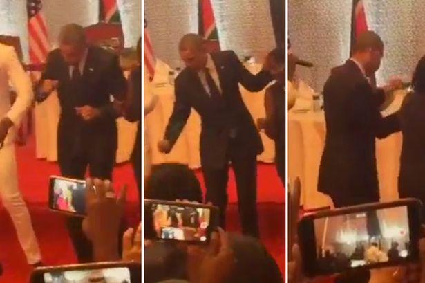 Així balla Obama a Kenya