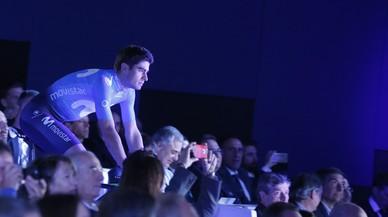 Mikel landa ja llueix la nova pell del Movistar