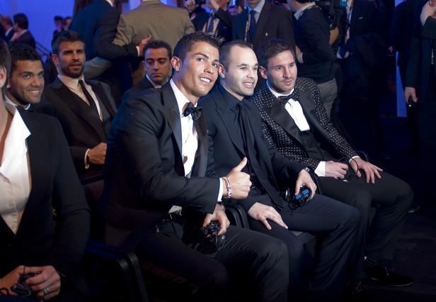 Messi, Iniesta y Cristiano, un rey y dos príncipes de lujo